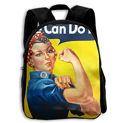 AACC-Bag Children's Bags We Can Do It Poster Boys and Girls Backpack¡¢600D Plain Oxford Coth ()