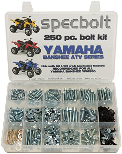 Specbolt Fasteners 250pc Maintenance Restoration OE Spec Motorcycle Bolt Kit for Yamaha Banshee ATV Quad (Fender Motorcycle Kits)