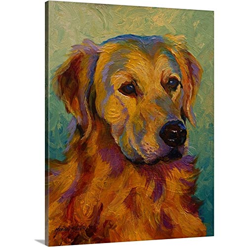 Golden Retriever Canvas Wall Art Print, 18