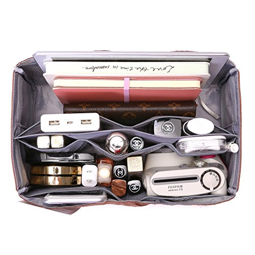 IN Purse Organizer,Handbag Organizer Insert for Speedy 25,30,35 Purse Liner Foldable (Medium, brown) by iN. (Image #6)