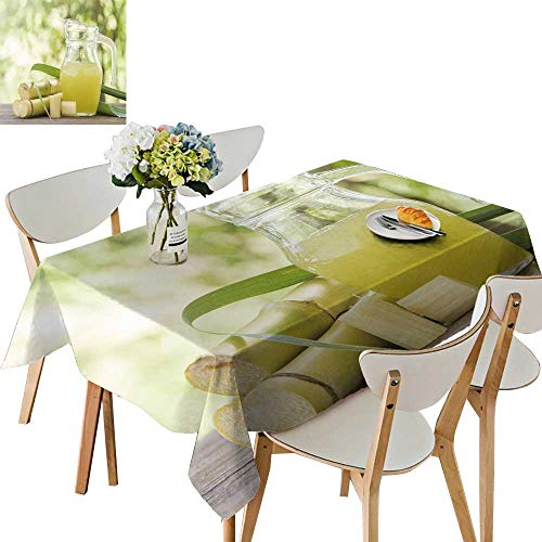 UHOO2018 Solid Tablecloth Squeeze Sugar e Juice in Pitcher Cut Pieces e on Nature backgroun Square/Rectangle Spillproof Fabric Tablecloth,54 x105inch