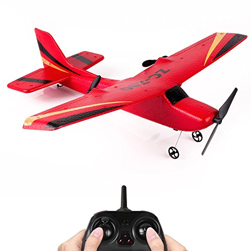 ❤️MChoice❤️Z50 2.4G 2CH Gyro RTF Remote Control Glider 350mm Wingspan EPP Micro Indoor RC Airplane (Red)