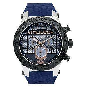 MULCO Men's MW5-2331-044 Couture Analog Display Swiss Quartz Blue Watch