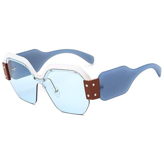SHEEN KELLY Gafas de sol cuadradas futuristas Gafas de sol ...