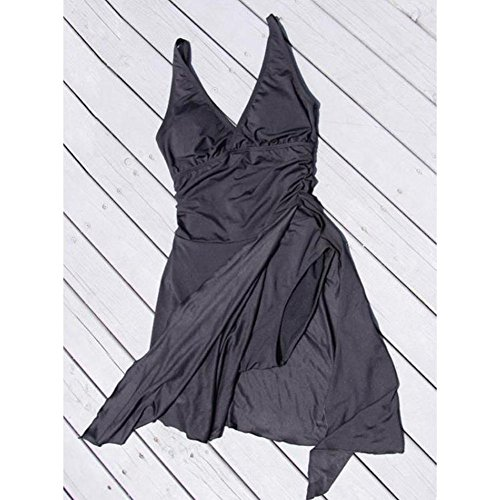 hibote Costume Nero Gonna Bagno Curvy Costume da Intero Nero rpnUxrw