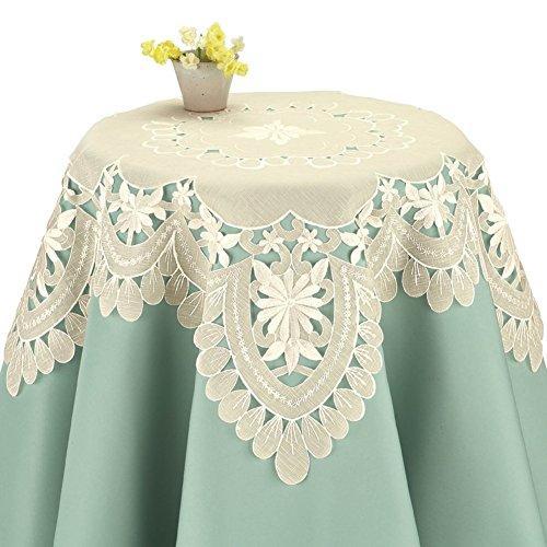 Organza Daisy (Embroidered Daisy Organza Table Linens, Square)