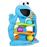 "OM NOM NOM! Cookie Monster is hungry for cookies! Feed him by dropping a cookie ball into his mouth and watch it roll down the ramp. As Cookie Monster ""munches,"" he says funny phrases, makes his beloved om nom nom noises and other silly sounds, and s..."