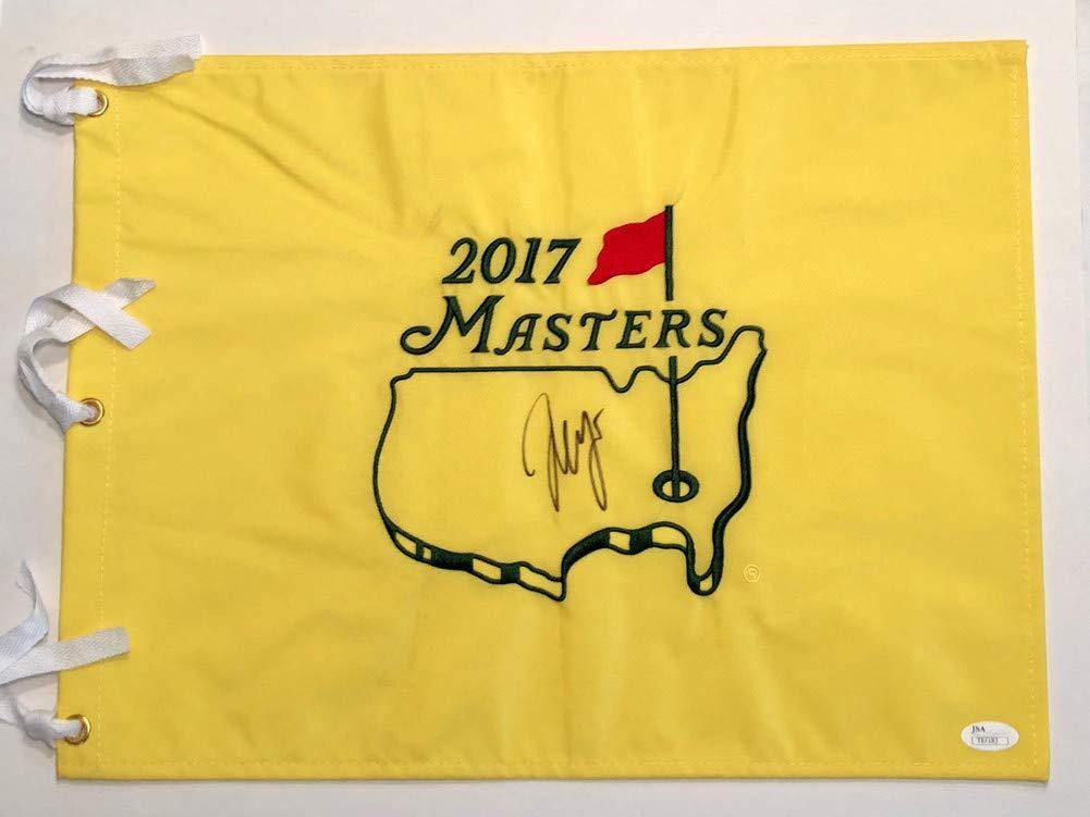 Sergio Garcia Signed Autograph 2017 Masters Flag Sports Memorabilia JSA