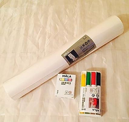 Ikea Mala Easel Essential Set Drawing Paper Roll Whiteboard Pens