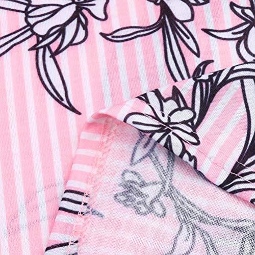 Quarts Impression T che Blouse Dames Xinantime L Trois Manches Rose Chemise Tops Shirt Casual Femme Femmes 46vvOX0x