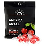 America Awake Cherry Flavor Caffeinated Candy – Extra Energy Brain Focus 40 milligrams Caffeine Anhydrous Per Serving – Made in the USA Review