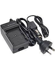 LP-E10 Battery Charger AC/DC Wall/Car Single Replacement for LPE10 LC-E10 LCE10 LC-E10C LC-E10E EOS 1100D 1200D 1300D 1500D 3000D Rebel T3 T5 T6 Kiss X50 X70 X80