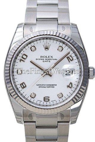 Rolex Perpetual 34mm Fluted Bezel 115234