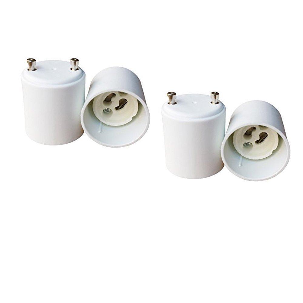 E-Simpo 4pcs Gu24 to Gu10 Adapter, Gu24 to Gu10 Lamp Base Converter, Allow You Install Gu10 Lamp into Gu24 Socket