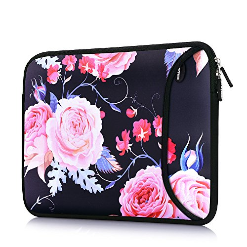 Egonn Drop-Proof Laptop Sleeve for 13-13.5 Inch MacBook Air, Laptop case with Pocket for MacBook Pro Retina(Rose)
