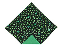 St. Patrick's Day Pocket Square Green Shamrock for Men Handkerchief