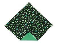 St. Patrick's Day Pocket Square Green Shamrock for Men Handkerchief