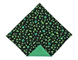 St. Patrick's Day Pocket Square Green Shamrock for Men Handkerchief (Mens)
