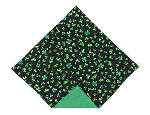 Irish Wedding Handkerchief (St. Patrick's Day Pocket Square Green Shamrock for Men Handkerchief (Mens))