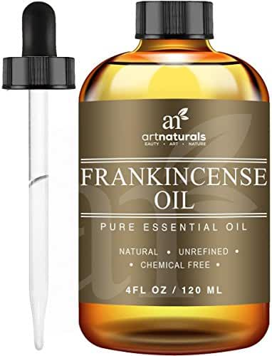 ArtNaturals Frankincense Essential Oil, 100% Pure and Natural Undiluted Therapeutic Grade, Best Premium Quality Oil, Large, 4 oz.