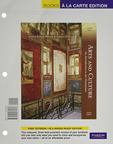 Arts and Culture: An Introduction to the Humanities, Volume 1, Books a la Carte Plus MyHumanitiesKit -- Access Card Pack
