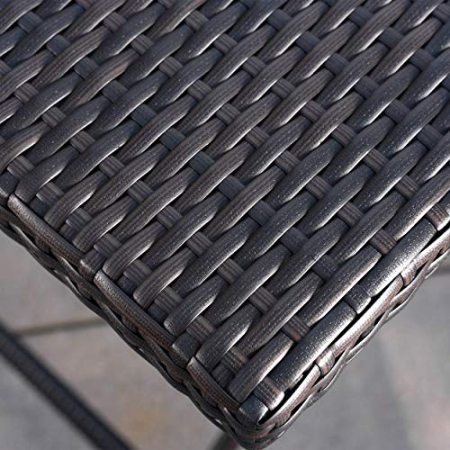 Marinelli Outdoor Multibrown Wicker Bar Table by Christopher Knight Home (Image #3)