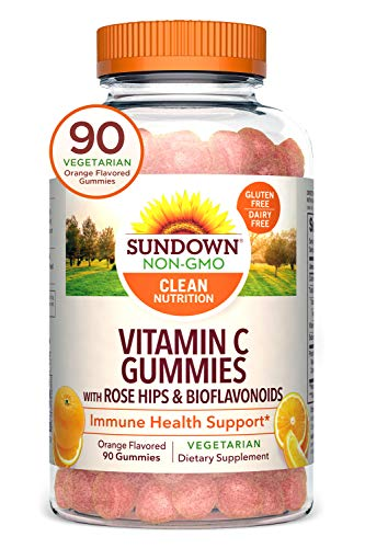 Vitamin C by Sundown, Vitamin C Gummies for Immune Support, with Rose Hips & Bioflavonoids, 90 Gummies