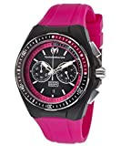 Technomarine Tm-110016 Women's Cruise Chrono Hot Pink Silicone Black Dial & Silicone Cover Watch