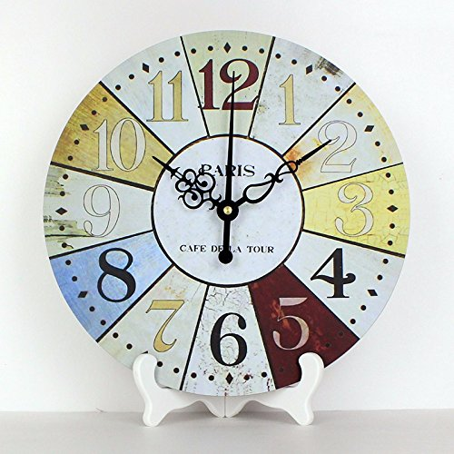 12'' French Country Tuscan Style Paris desk clocks more quite frozen bedroom decorative table clocks (Style French Clock Wood Table)
