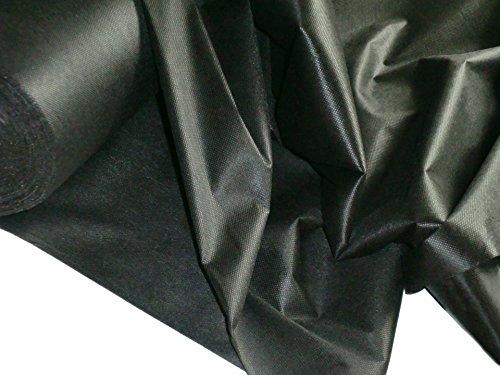 1 lfm Vlieseline, Bügelvlies, Klebeeinlage, 40 g/m², 90 cm breit, in schwarz, einseitig haftend, für leichte bis mittelschwere Stoffe, 1m