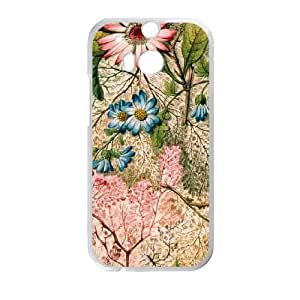 HTC One M8 Cell Phone Case White Marbled Paper GY9157187