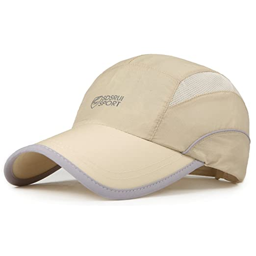 954a3aa2 Hat/Men's Wicking Breathable in Summer Sports Cap/Outdoor Cap Man/Visor Cap/SPF  Sun Hats/Baseball Cap-C Adjustable at Amazon Men's Clothing store: