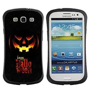 Suave TPU GEL Carcasa Funda Silicona Blando Estuche Caso de protección (para) Samsung Galaxy S3 I9300 / CECELL Phone case / / Happy Halloween /