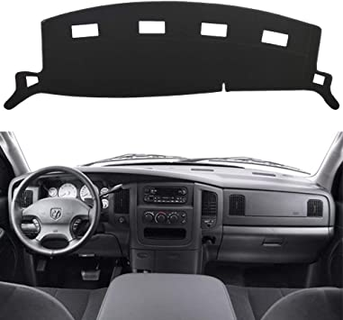 Amazon Com Hanlanka Black Carpet Dash Mat Compatible With 2002 2005 Dodge Ram 1500 2003 2005 2500 3500 Custom Fit Dash Cover Easy Installation Dashboard Cover Automotive