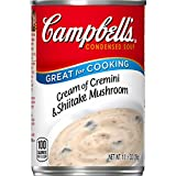 Campbell's Condensed Cream of Cremini & Shiitake Mushroom Soup, 10.5 Ounce Can, Pack of 12