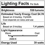 Triangle Bulbs T10671-6 (6 pack) - 39PAR20/NFL/120V, 39 Watt (50W Replacement), PAR20, 120 Volt, 25 Degree Narrow Flood, Halogen Light Bulb, 6 Pack