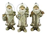 Special T Imports Woodland Santa Claus Hanging Christmas Ornaments - Set of 3
