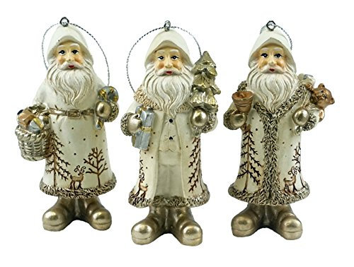 Special T Imports Woodland Santa Claus Hanging Christmas Ornaments - Set of 3 by Special T Imports