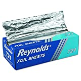 Reynolds 721 12'' Length x 10-3/4'' Width, Plain InterFolded Foil Sheet (6 Packs of 500 sheets)