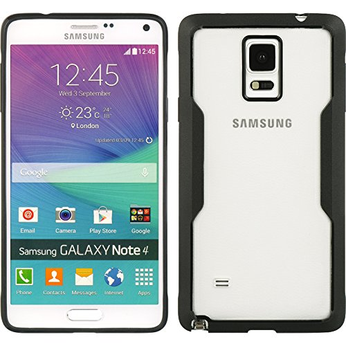 Dream Wireless SAMSUNG GALAXY NOTE 4 FUSION CANDY CASE - Carrying Case - Retail Packaging - BLACK/TINITED CLEAR PC (Candy Embed)