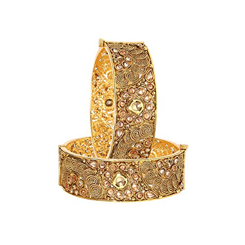 YouBella Ethnic Bollywood Gold Plated Traditional Bracelets Bangles Jewellery for Women and Girls (6.3) ()