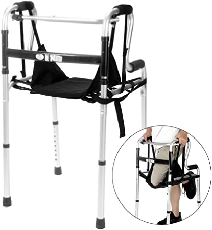 Knee Walkers Sling Hanging Knee Walker Pad Cover Cushion Patient Medical Safety Lifts Leg Sling for Foot Injuries for Elderly, Adults