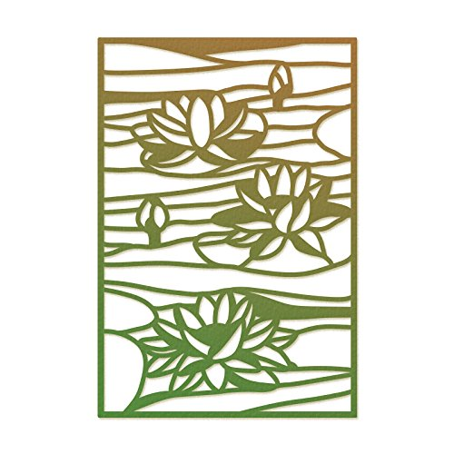 (Ultimate Crafts Stained Glass Die-Lily Pond, 2.3