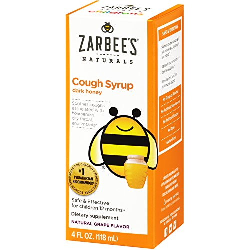 Zarbee's Naturals Children's Cough Syrup with Dark Honey, Natural Grape Flavor, 4 Fl. Ounces (Syrup Dry Cough)