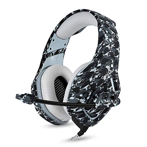 - Lljin 3.5mm Gaming Het MIC Camouflage Headphones PC Laptop for PS4 for Xbox Oneads (Ship from US) (B)