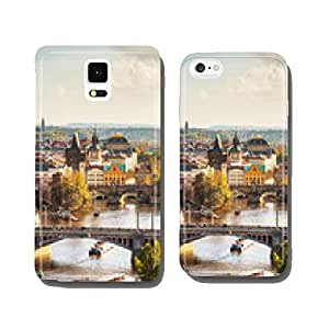 Overview of old Prague with Charles bridge cell phone cover case Samsung S6