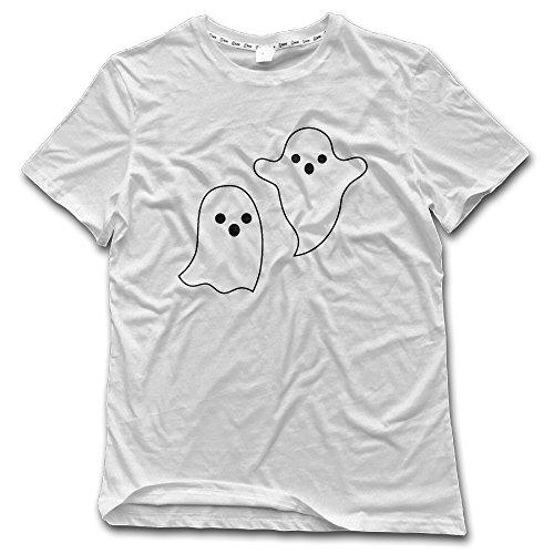 Men's Cute Halloween Ghost Cotton Vintage T -