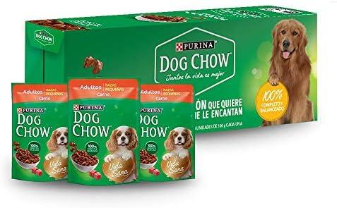 Dog Chow Alimento Húmedo Adultos Razas Pequeñas Carne, Paquete con 20 Piezas, 100g 2