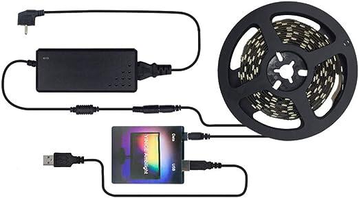Leobtain - Tira de luz LED USB para televisor con pantalla de sueño, USB, tiras LED de luz, para monitor de ordenador, TV y monitor de computadora: Amazon.es: Hogar