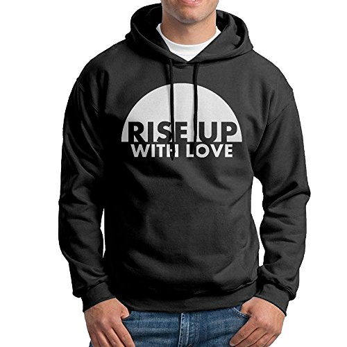 FDLB Mens Rise Up With Love Traveler Classic Hoodie Hooded Sweatshirt XXL -